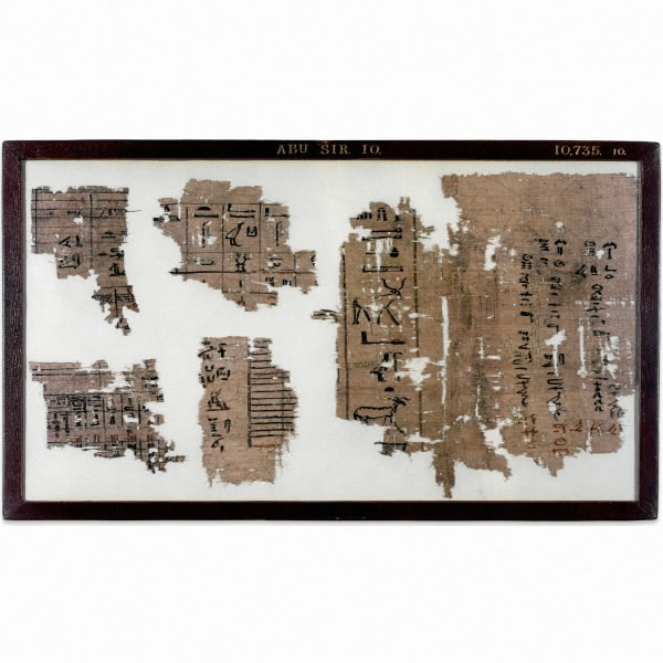 Papyrus from the Abusir papyri