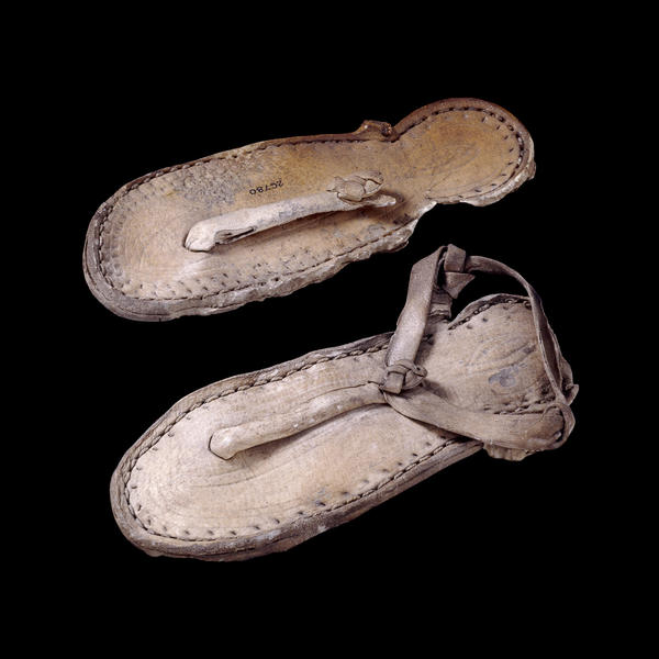 Pair of child's leather sandals